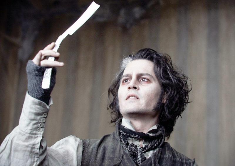 Johnny Depp em Sweeney Todd