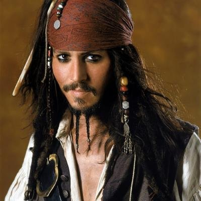 Johnny Depp em Piratas do Caribe