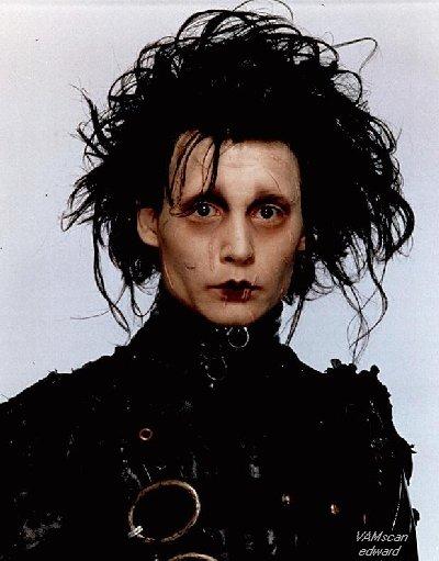 Johnny Depp em Edward Mãos de Tesoura