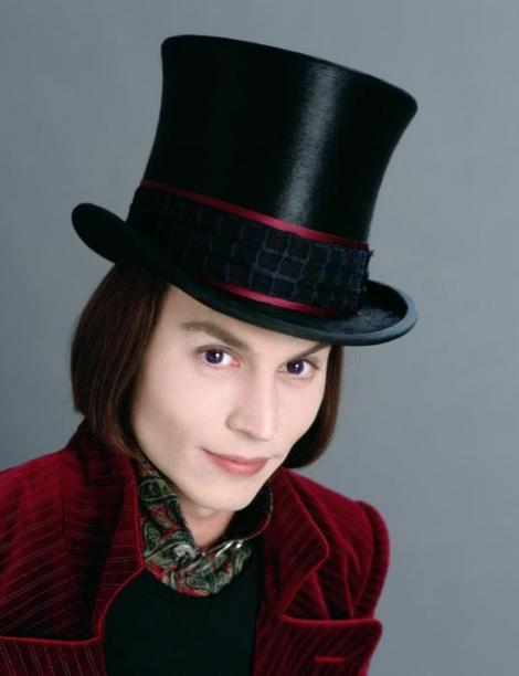 Johnny Depp em A Fantástica Fábrica de Chocolate
