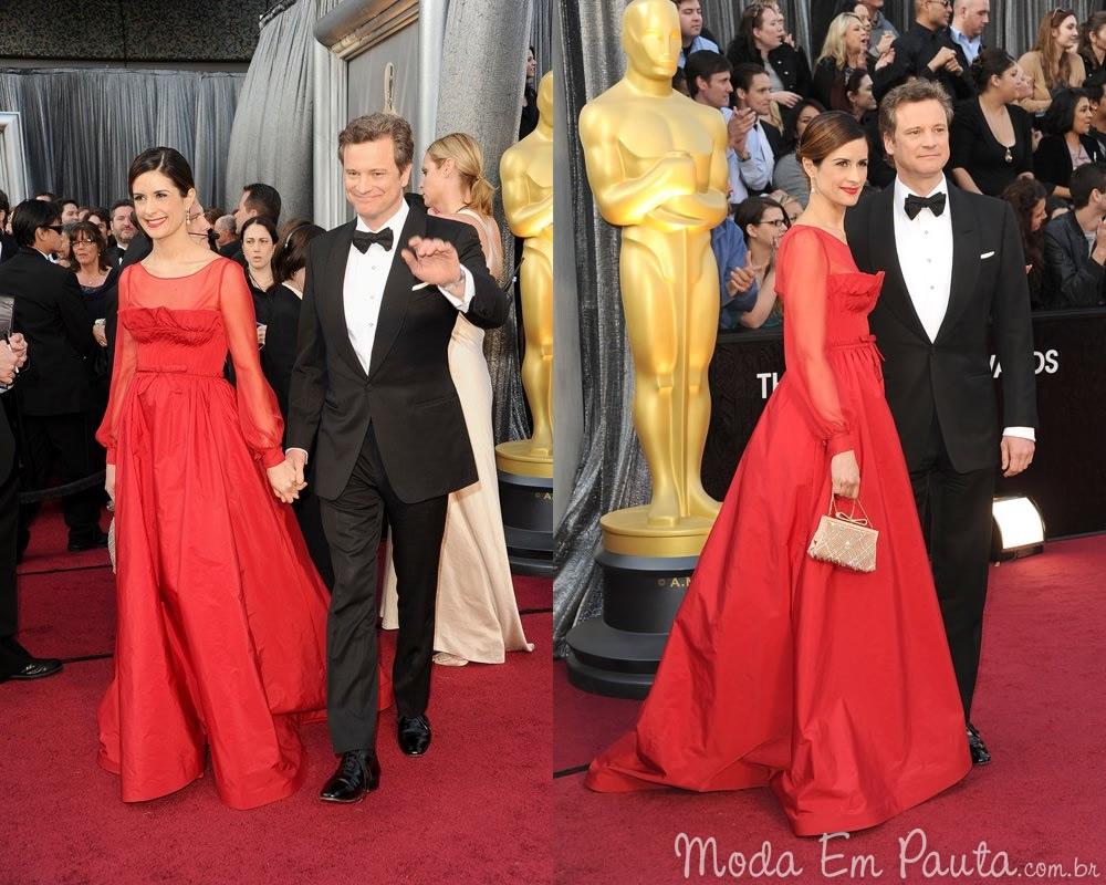 Colin Firth e Lívia Giuggioli looks Oscar 2012