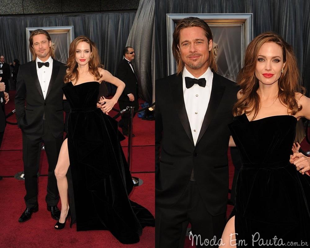 Angelina Jolie e Brad Pitt looks Oscar 2012