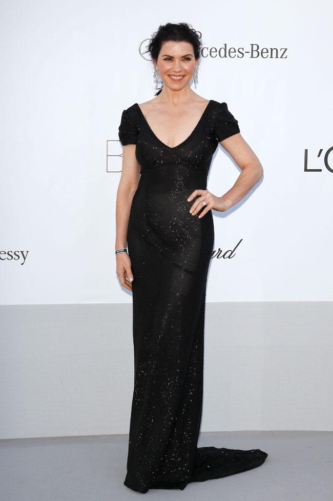 Julianna Margulies no Baile da amfAR em Cannes 2012