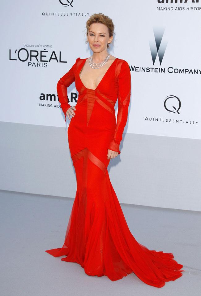 Kylie Minogue no Baile da amfAR em Cannes 2012