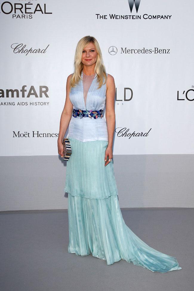 Kirsten Dunst no Baile da amfAR em Cannes 2012