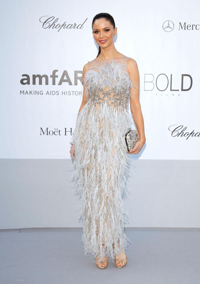 Georgina Chapman no Baile da amfAR em Cannes 2012