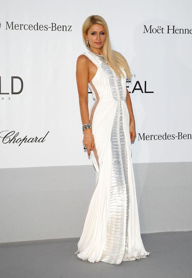 Paris Hilton no Baile da amfAR em Cannes 2012