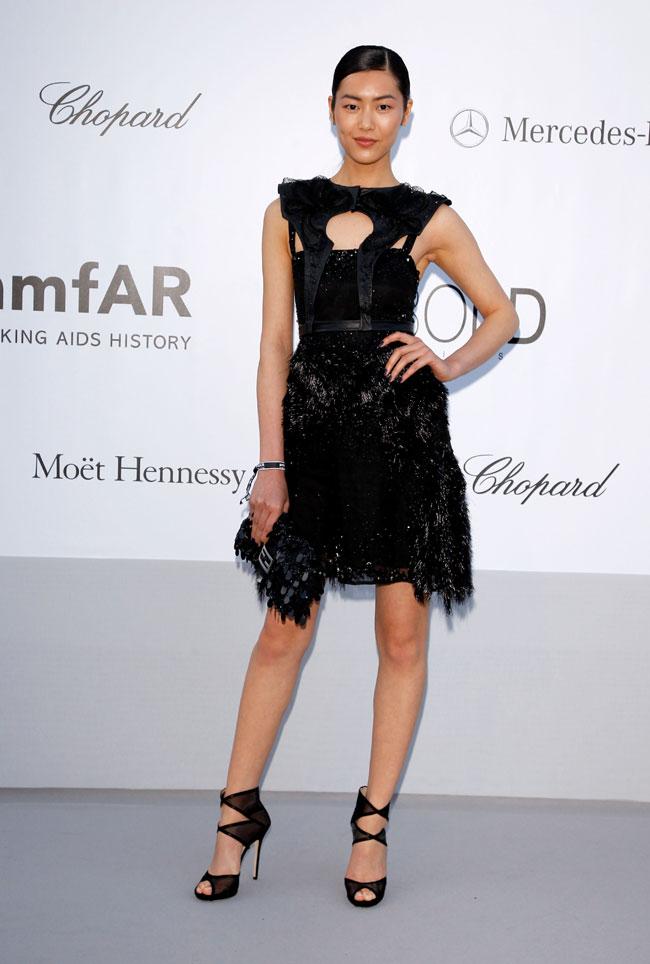 Liu Wen no Baile da amfAR em Cannes 2012