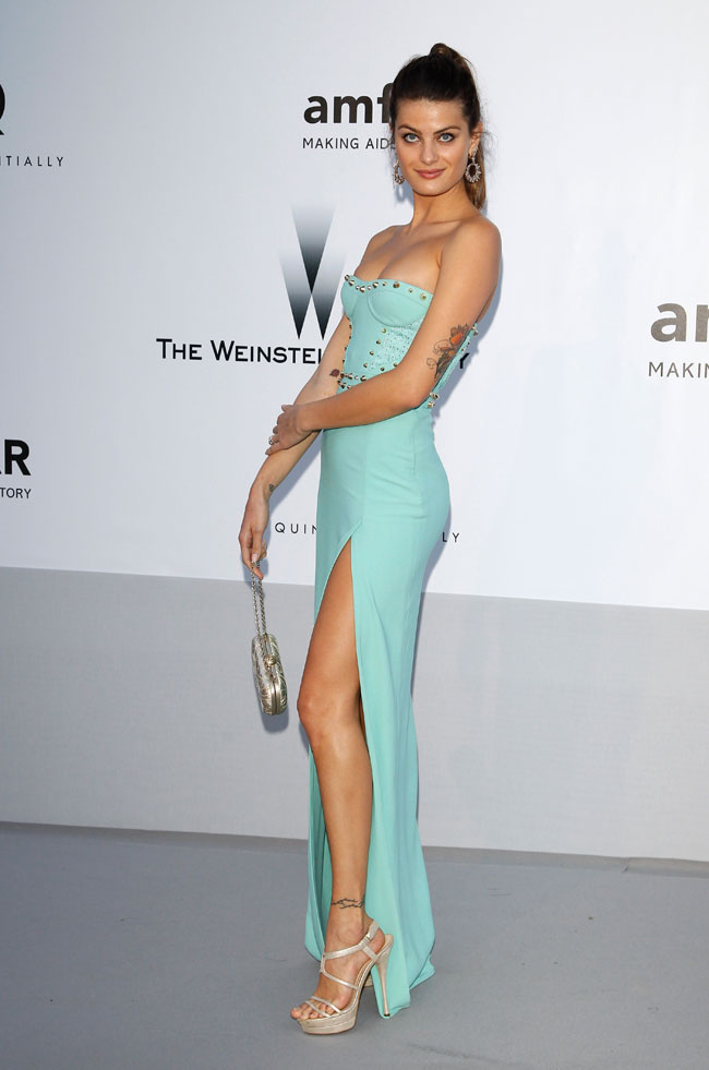 Isabeli Fontana no Baile da amfAR em Cannes 2012