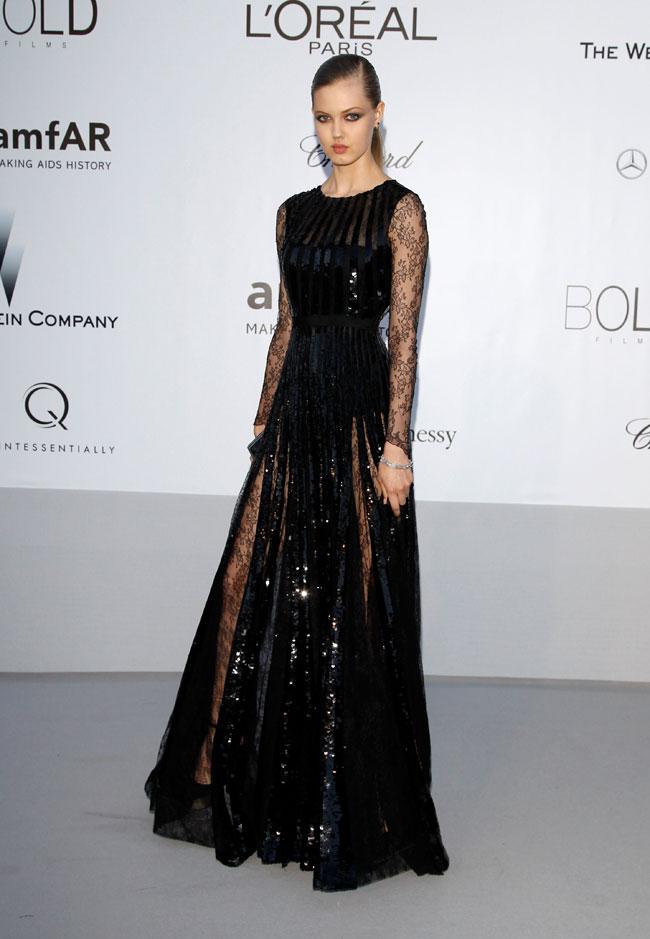Lindsey Wixson no Baile da amfAR em Cannes 2012