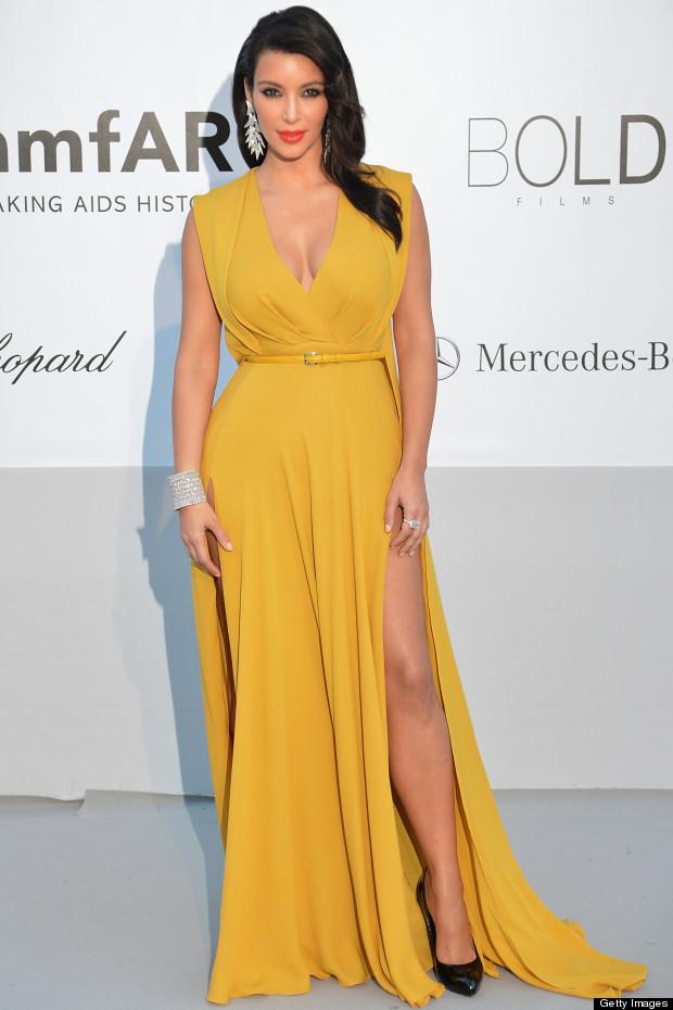 Kim Kardashian no Baile da amfAR em Cannes 2012