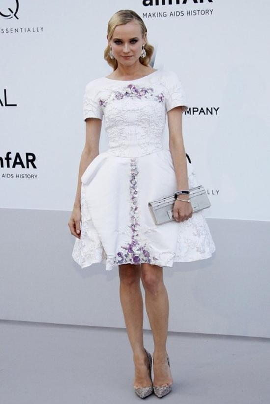 Diane Kruger no Baile da amfAR em Cannes 2012