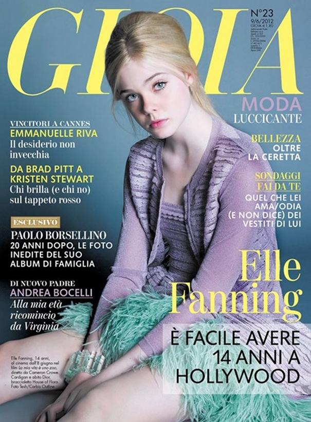 Fotos de Elle Fanning na revista Gioia
