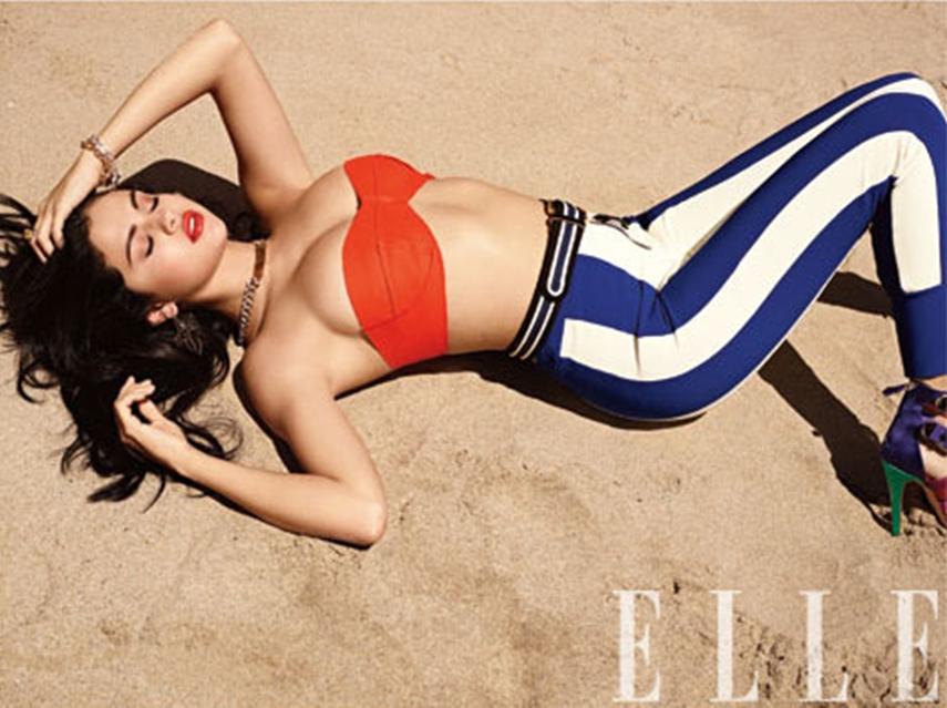 Selena Gomez na revista Elle de junho 2012