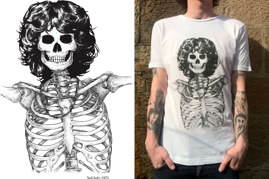Camiseta Caveira Jim Morrison