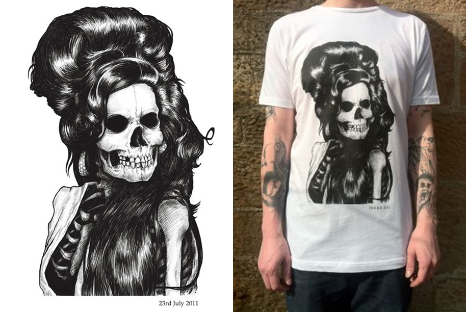 Camiseta Caveira Amy Winehouse
