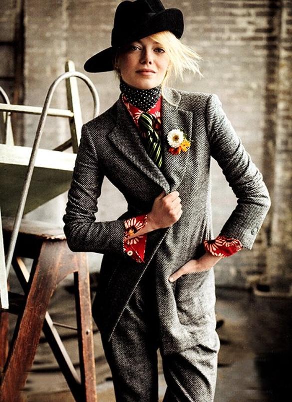 Emma Stone na revista Vogue Julho 2012