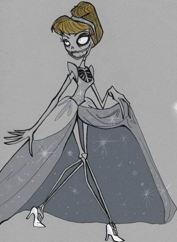 Princesas Disney - Cinderela - Tim Burton