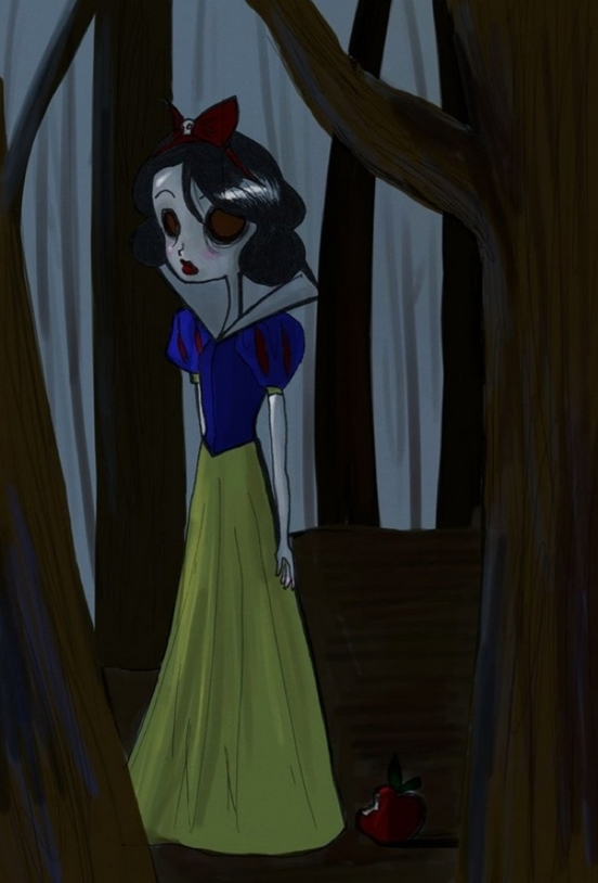 Princesas Disney - Branca de Neve- Tim Burton